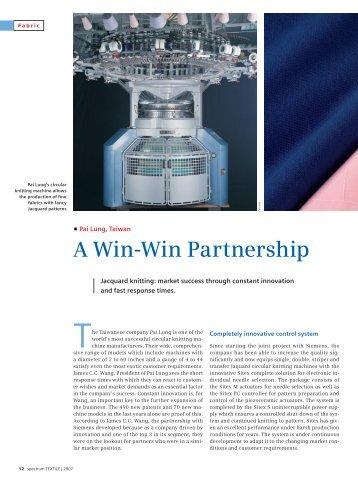 A Win-Win Partnership - Siemens Industry, Inc.