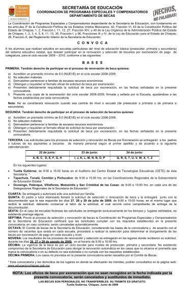Descargar Convocatoria - Secretaría de Educación