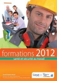 le catalogue de formations en Santé et Sécurité au Travail