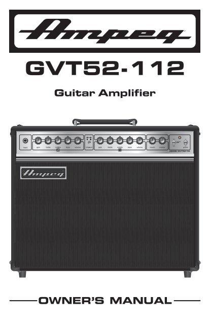 GVT52-112 Manual - Ampeg