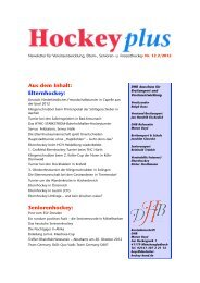 HockeyPlus-Newsletter Nr.12 online (pdf) - Deutscher Hockey Bund ...