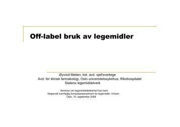 Off-label bruk av legemidler - Nasjonalt kompetansenettverk for ...