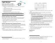 Light Sensor - Vernier Software & Technology