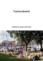 1212_omslag toerismebeleid.indd - Gemeente Hoorn