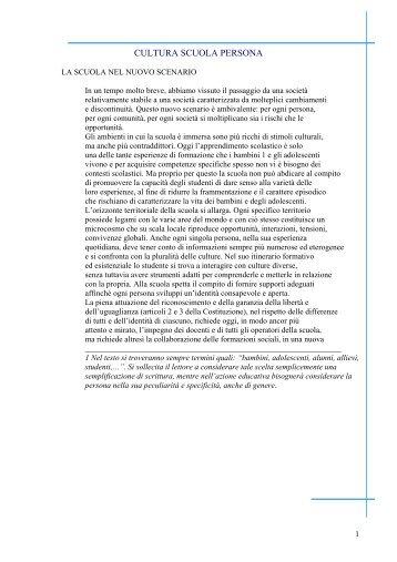 CULTURA SCUOLA PERSONA - La Teca Didattica