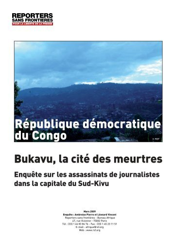 RSF - Journaliste en danger