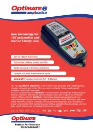 Technical Specifications - Tecmate-int.com