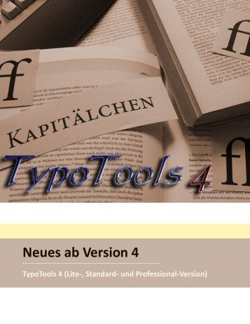 Neues ab Version 4 - TypoTools