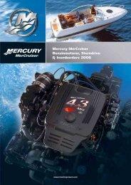 Mercury MerCruiser Bensinmotorer, Sterndrive ... - mercurymarine.dk