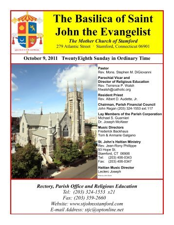Bulletin for Sunday October 9, 2011 - The Basilica of Saint John the ...