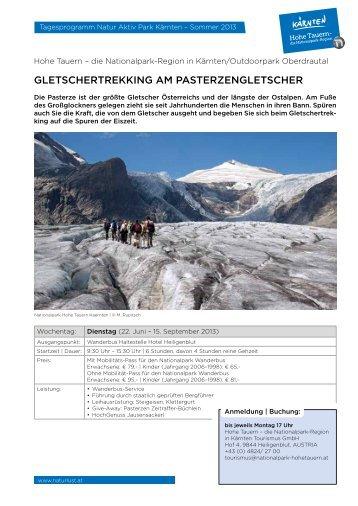GLETSCHERTREKKING AM PASTERZENGLETSCHER