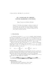 ON A SUBCLASS OF CERTAIN CONVEX HARMONIC FUNCTIONS ...