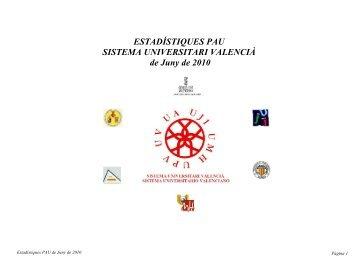 Estadístiques juny 2010 - Universitat de València