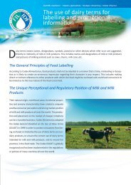 The use of dairy terms for labelling and promotional ... - IDF Germany