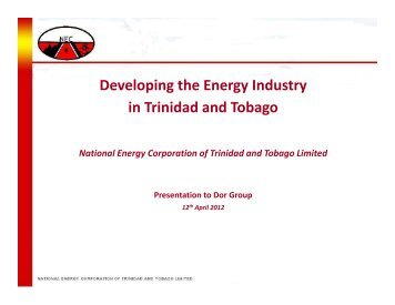Developing the Energy Industry in Trinidad and Tobago
