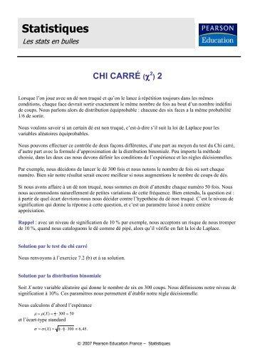 Chi carré 2 - Pearson