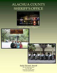 2012 Annual Report - Alachua County Sheriff's Office
