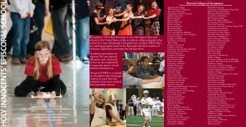Admissions Brochure - Holy Innocents' Episcopal School