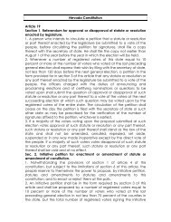 Constitutional and Statutory Provisions - Initiative and Referendum ...
