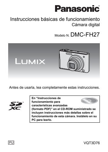 MANUAL DE USUARIO PARA MODELO DMC-FH27PU ... - Panasonic