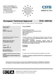 European Technical Approval ETA-10/0144