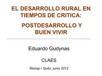 el desarrollo rural en tiempos de critica: postdesarrollo y ... - Rimisp