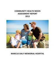 2013 Community Health Needs Assessment Report - Marcus Daly ...