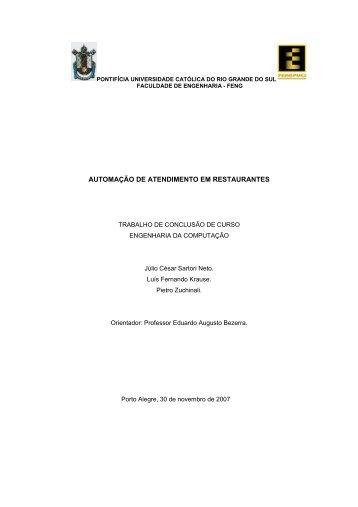 Luis Fernando Krause, Julio Cesar Sartori Neto, Pietro Zuchinali - GSE