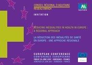 conseil régional d'aquitaine reseau enrich reducing inequalities in ...