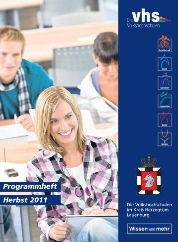 Programmheft Herbst 2011 - Kreisvolkshochschule Herzogtum ...