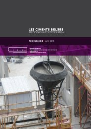 Les ciments belges : specification et certification - Febelcem