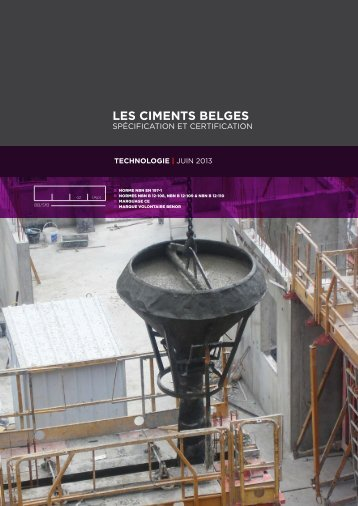 Les ciments belges : specification et certification - Febelcem