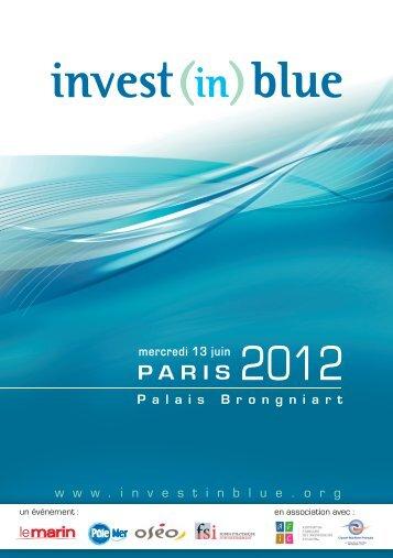 Présentation Invest in Blue - Evenium