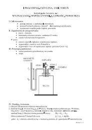 opis ćwiczenia - Wydział Fizyki, Astronomii i Informatyki Stosowanej