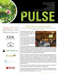 The Pulse - January 2013 - Northern Pulse Growers Association