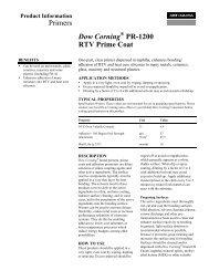 Dow Corning® PR-1200 RTV Prime Coat