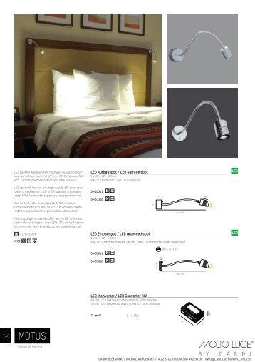 LED Aufbauspot / LED Surface spot LED Einbauspot / LED ... - Cardi