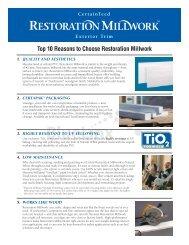 Top 10 Reasons to Choose Restoration Millwork - BlueLinx