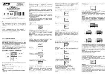 PCZ-521.2 instrukcja - F&F