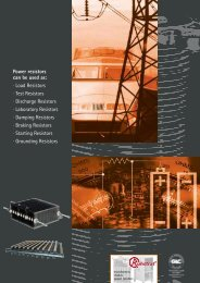 Power resistors can be used as: · Load Resistors ... - Ruhstrat GmbH