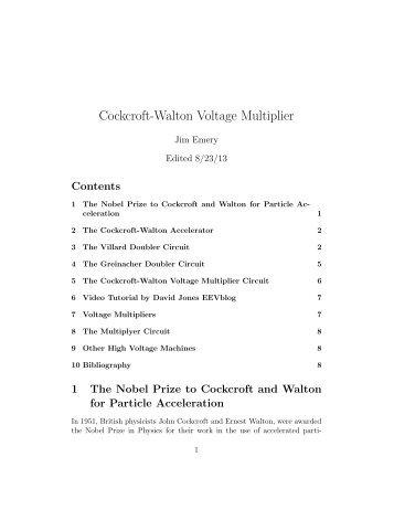Cockcroft-Walton Voltage Multiplier - STEM2