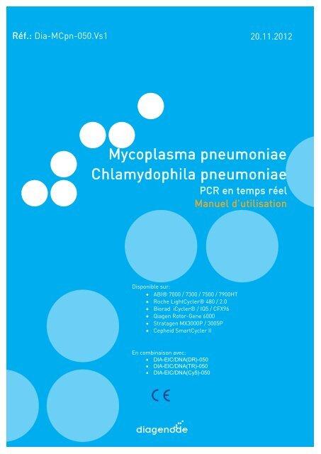 Mycoplasma pneumoniae Chlamydophila pneumoniae - Diagenode ...