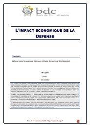 L'impact économique de la Défense - Base de connaissance AEGE
