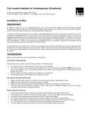 Enquiry Pack - The London Institute for Contemporary Christianity - Page 6