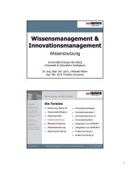 Wissensmanagement & Innovationsmanagement