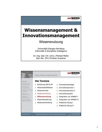 Wissensmanagement & Innovationsmanagement