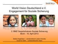 World Vision Deutschland e.V. Engagement für Soziale Sicherung