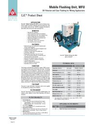 Product Sheet, Mobile Flushing Unit, MFU, Oil Filtration and ... - Cjc.dk