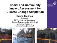 climate change adaptation policies - VATT