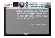 apresentação oral - condições sanitárias de saúde bucal da rede ...